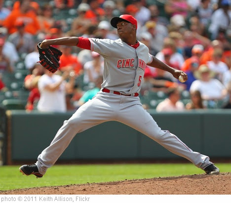 'Cincinnati Reds relief pitcher Aroldis Chapman (54)' photo (c) 2011, Keith Allison - license: https://creativecommons.org/licenses/by-sa/2.0/