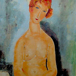 Modigliani, Nude with hands crossed