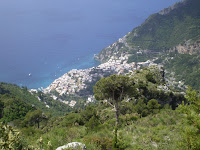 AMALFI - LANDSCAPE TOWN FROM ABOVE