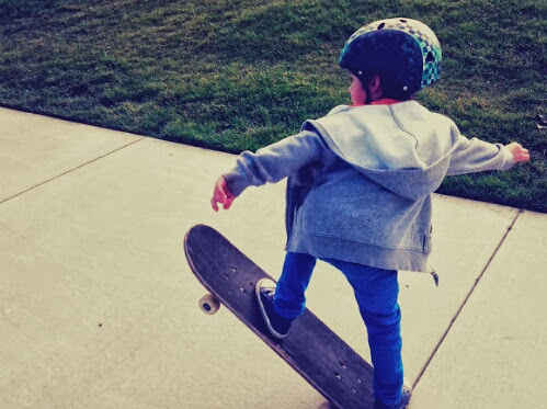 how to teach your child to skateboard