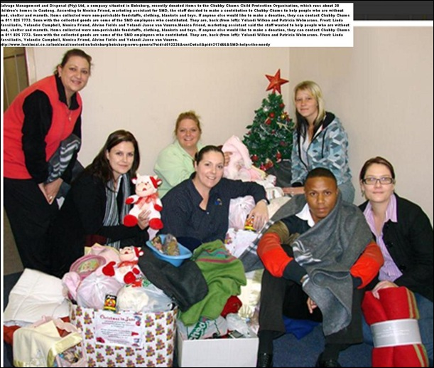 AFRIKANER CHILDRENS HOMES GET DONATIONS BOKSBURG CO JULY72011