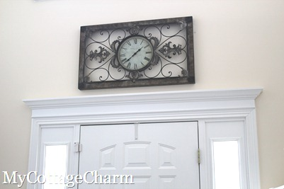 My cottage charm how to add molding to your doors door for Over door decorative molding