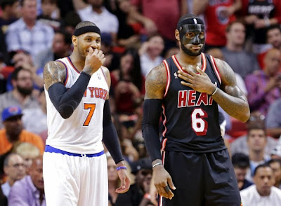 lebron james nba 140228 mia at nyk 05 LeBron Goes #BaneJames on the Knicks in Carbon Fiber Mask