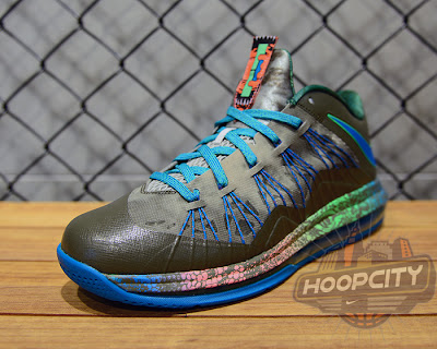 nike lebron 10 low gr black turquoise blue 1 02 Surprise, Surprise... Nike Air Max LeBron X Low Tarp Green