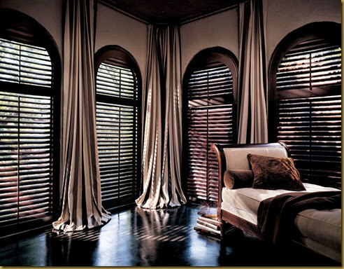 arched window blinds