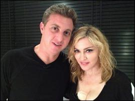 Luciano Huck e Madonna