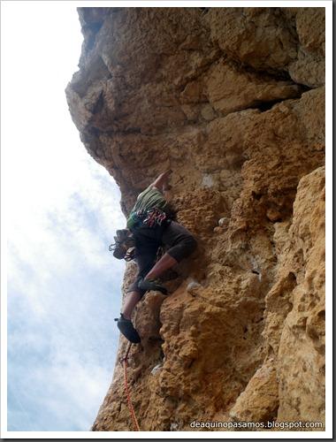 Via Costa Blanca 250m 6c  (6b A0 Oblig) (Peon de Ifach, Alicante) (Isra) 2465