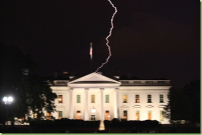 whitehouse lightening strike