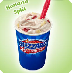 banana split blizzard