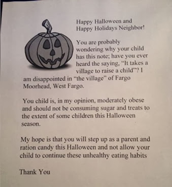 Trick or Treat refusal letter