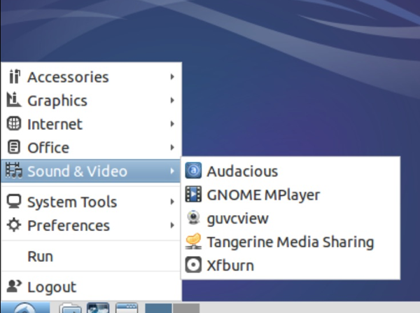Where to find Tangerine in the LInux Start menu