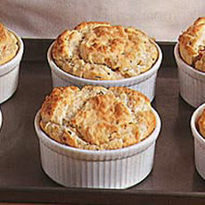 Shrimp and Crab Souffles with Red Bell Pepper and Tarragon