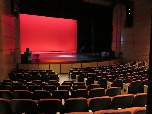 Students here are treated as young professionals, training and performing in spaces that look more like university facilities.  This could be an Off-Broadway theatre.