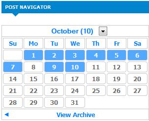 archive calendar