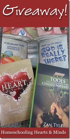 Have a HEART for Your Kids book bundle GIVEAWAY @ Homeschooling Hearts & Minds ends 5/12
