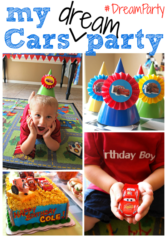 Disney Cars Birthday Party Ideas #DreamParty #cbias #gingersnapcrafts
