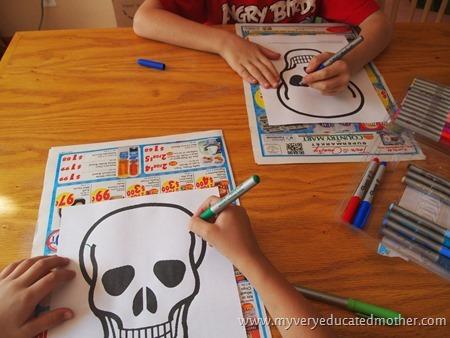 DayoftheDeadCraft #freeprintable #DayoftheDeadMask #kidscraft