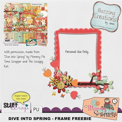 MMTS & TSK - Dive into Spring - Frame  Freebie Preview