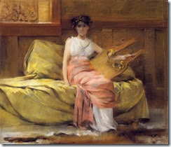 Francis-Coates-Jones-Lady-with-a-Lyre