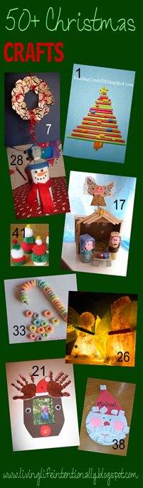 50 Christmas Crafts for Kids  #chrismtascrafts #preschool #christmas #kidsactivities
