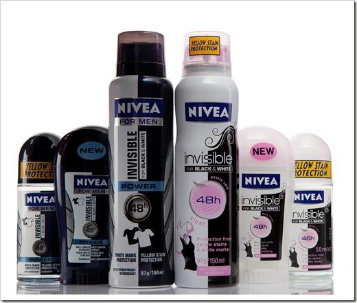 Black & White סדרת דאודורנטים לגבר ולאישה מבית NIVEA.