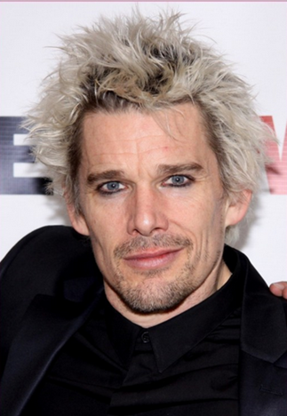 Ethan Hawke with Mark McGrath blonde hair and eyeliner