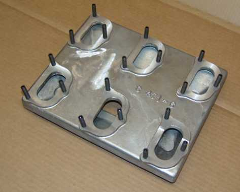 6 carb manifold for a 471 blower, 475.00 cast finish and 575.00 polished.