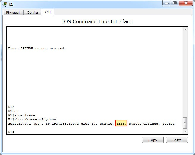 Which command allows you to verify the encapsulation type (CISCO or ...