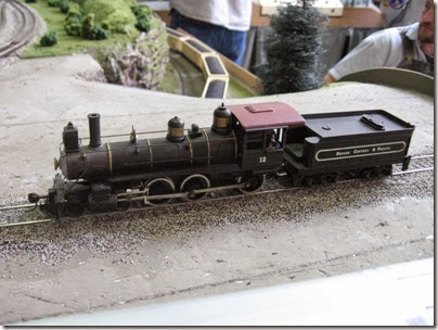 IMG_6027 OCP 4-6-0 #12 on the LK&R Layout at the Three Rivers Mall in Kelso, Washington on April 14, 2007