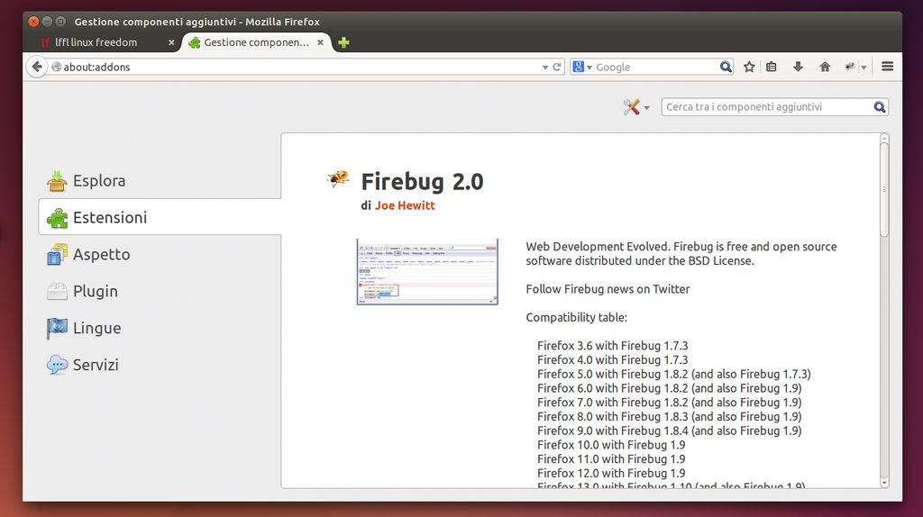 Firebug 2.0 in Mozilla Firefox