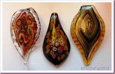 Hand blown glass pendants