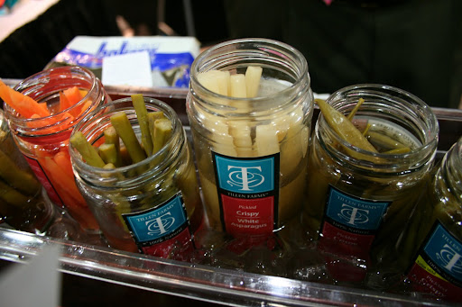 Don't be fooled by the jar! The pickled vegetables from Tillen Farms are crunchy, fresh, and perfect for your next Bloody Mary or martini.  The Crispy Snap Peas were one of my all-around favorite tastes of the day.