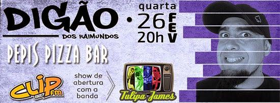Digão do Raimundos realiza pocket show exclusivo dia 26, quarta-feira, na Pepi's Pizza Bar, em Indaiatuba