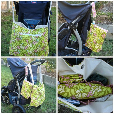 mod bead sway lime heather baily 6 pocket nappy bag combo  Collage