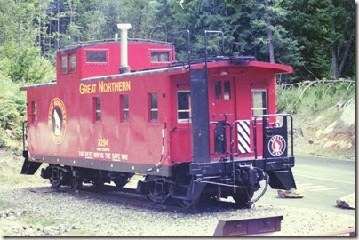 463161796 Great Northern Caboose X294 at the Scenic Trailhead of the Iron Goat Trail in 2007
