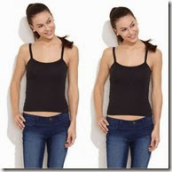 Buy Pack of 2 – College Girl 100% Cotton Camisoles at Rs.96 only