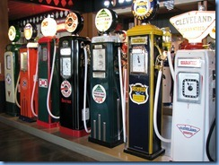 0936 Alberta Calgary - Heritage Park Historical Village - Gasoline Alley Museum - vintage gasoline pumps