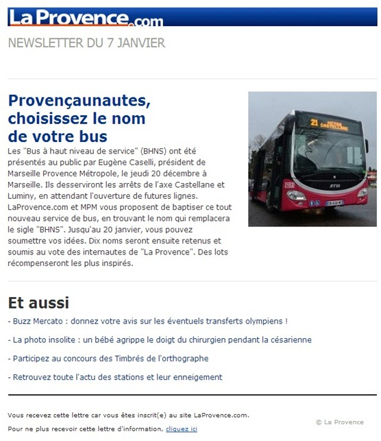 nommar un bus a Marselha
