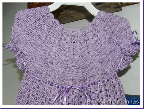 Vestido em Crochê para Meninas 1a