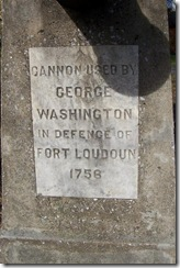 Inscription on Fort Loudoun cannon in Winchester, VA