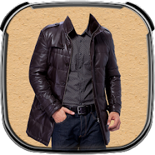 Leather Coat of Man Photo Suit