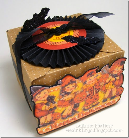 LeAnne Pugliese WeeInklings Vintage Halloween Postcard Treat Box 6