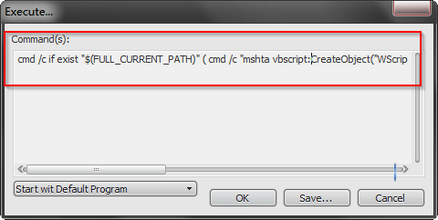 how to run notepad++ file in cmd