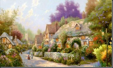 thomas-kinkade-cobblestone-village-wallpaper-1366x768