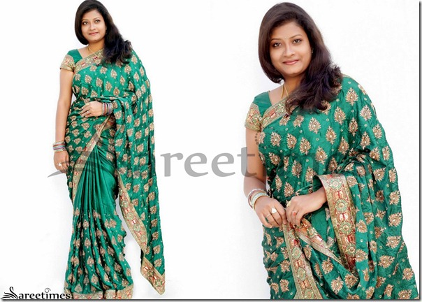 Pravallika_Green_Silk_Saree