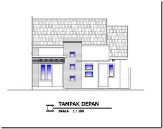 Desain Rumah Minimalis Tipe 80 Tampak Depan