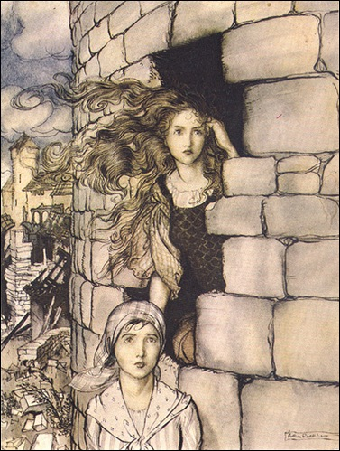 Arthur Rackham looking afar