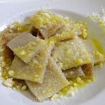 Testaroli - world's oldest pasta from Tuscany in Milan, Milano, Italy
