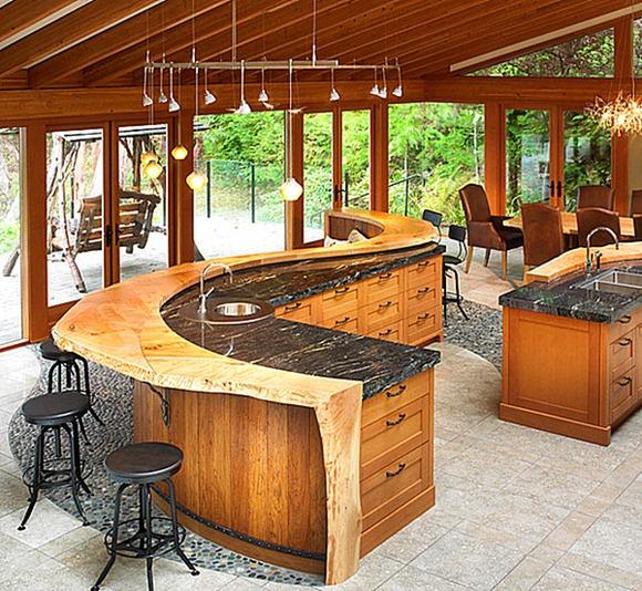 diseños de cocina bar