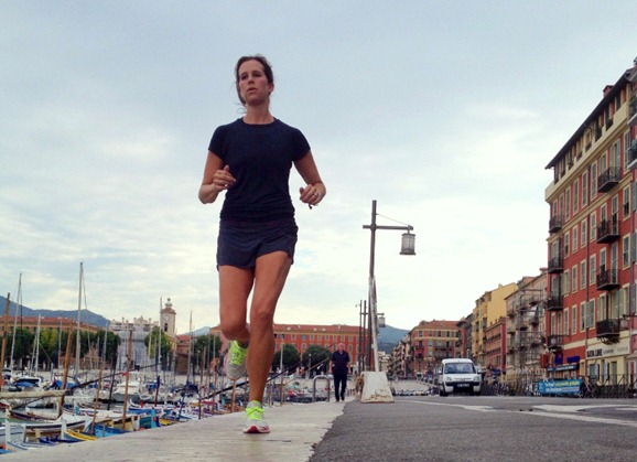 Running in Nice France